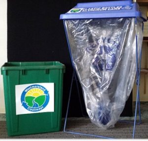 2 types of recycling bins for special events