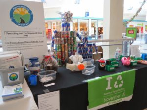 A Westmoreland Cleanways display table full of educational resources